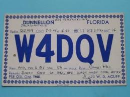 W4DQV Florida USA - W.D. Acuff Jacksonville ( To G5MN ) Anno 1946 ( Zie Foto Voor Details ) - Radio Amateur