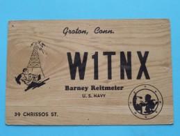W1TNX Barney Reitmeier U.S.Navy Groton Conn. ( To Hull England ) Anno 1953 ( Zie Foto Voor Details ) - Radio Amateur