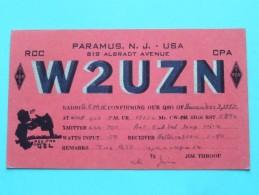 W2UZN Paramus N.J. USA Jim Throop ( To Kent England ) Anno 1947 ( Zie Foto Voor Details ) - Radio Amateur