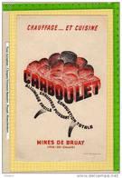 BUVARD :Chauffage Et Cuisine CARBOULET  Mines De BRUAY - Electricité & Gaz
