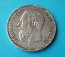BELGIQUE PIÈCE DE MONNAIE ARGENT 5 FRANCS BELGE 1868 LEOPOLD II - 1865-1909: Leopold II