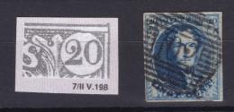 N° 7 Margé  VARIETE Planche II Possition 198 Filet Supérieur Prolonge - 1851-1857 Medaillen (6/8)