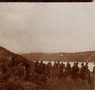 Photo Originale Jura - Lac Du Chalain Vers 1910 Et Groupe De Randonneuses à Bérets - Lieux