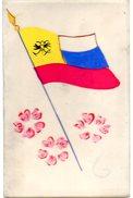CPA MILITARIA   En CELLULOID Peinte A La Main - DRAPEAU PATRIOTIQUE GUERRE 1914-18 - Patriotic