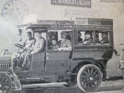 CPA 26 Drôme Service D'autobus Saint Rambert D'Albon Anneyron Carte Imparfaite En L'état - Autres Communes