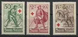 FINLANDE N° 176 à 178 Neuf Sans Charnière Année 1934