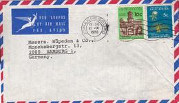 Luftpost-Brief-Südafrika-Deutschland/Hamburg - Poste Aérienne