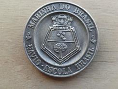 Medaille  Centre Instruction  Des Gardes Cotes  -bresil - Navire Escola 1991 - Professionnels / De Société