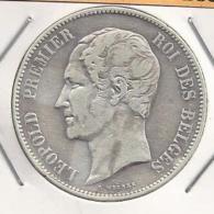 LEOPOLD I  5 Frank  1853   FRAAI ++   -  M43 - 1831-1865: Léopoldo I