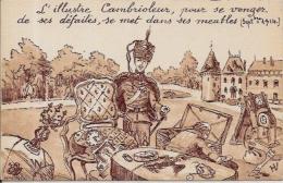 CPA Satirique Caricature Guerre 14-18 Patriotique Germany Kaiser Non Circulé - Satirical