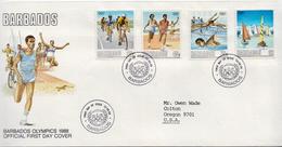 Postal History Cover: Barbados Set On Used FDC - Zomer 1988: Seoel