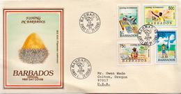 Postal History Cover: Barbados Set On Used FDC - Jobs