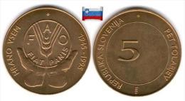 Slovénie - 5 Tolarjev 1995 FAO (UNC) - Slovénie