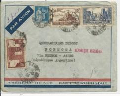 1933 - POSTE AERIENNE - ENVELOPPE Par AVION AEROPOSTALE De LE HAVRE Pour FORMOSA Via BUENOS AYRES (ARGENTINE) - Postmark Collection (Covers)