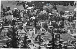 DAVOS - PLATZ → Generalansicht Anno 1949  ►mit Violettem Militärstempel◄ - GR Grisons