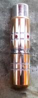 Vaporisateur - Atomiser De PARFUM Des Années 60, Métail Doré Taillé, Incrusté De Strass Rubis (des Manques) - Materiale Di Profumeria