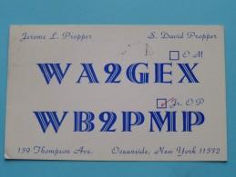 WB2PMP / WA2GEX ( Jerome L. Propper / S. David Propper ) Oceanside New York  - Anno 1967 ( Zie Foto Voor Details ) - Radio Amateur