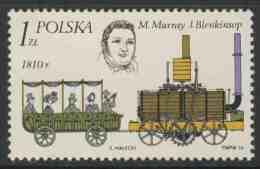 Poland Polska Polen 1976 Mi 2428 YT 2263 ** Matthew Murray (1765-1826)+ John Blenkinsop (1783-1831)+ Steam Loc + Carriag - Treinen