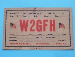 W2GFH ( Harold M. Keyser ) Scotia New York ( To Walton On Thames England ) Anno 1934 ( Zie Foto Voor Details ) - Radio Amateur