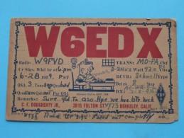 W6EDX ( C. F. Dougherty ) Berkeley Calif. ( To Waterloo ) Anno 1929 ( Zie Foto Voor Details ) - Radio Amateur