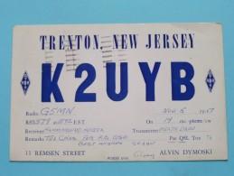 KL7ADR ( Alvin Dymoski ) Trenton New Jersey USA ( To Hull England ) Anno 1957 ( Zie Foto Voor Details ) - Radio Amateur