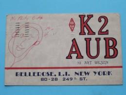 K2AUB ( Art Wilson ) Bellerose L.I. New YorkUSA ( To Hull England ) Anno 1956 ( Zie Foto Voor Details ) - Radio Amateur