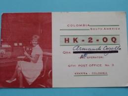 HK-2-OQ ( Armando Cogollo / CUCUTA ) COLOMBIA South America ( To Dorset England ) Anno 1966 ( Zie Foto Voor Details ) - Radio Amateur