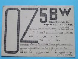 OZ5BW ( H. Thomsen ) GRAASTEN DENMARK ( To Birmingham England ) Anno 1968 ( Zie Foto Voor Details ) - Radio Amateur