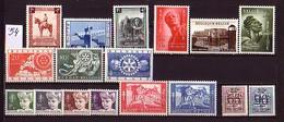 BELGIUM - BELGIQE - 1954 - Anne Incomplete ** - 17 Tim. Sans Mi 995/1000 - Full Years