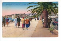 (n°401) CPA 06 CANNES Promenade De La Croisette 1928 Tres Belle  Animation - Cannes