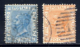 Italy  Sc# 35-36  Used  Complete  Set 1867 - Used