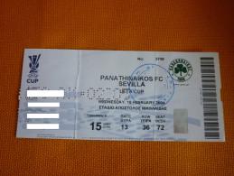 Panathinaikos-Sevilla UEFA CUP Football Match Ticket Stub 16/02/2004 (hologram) - Tickets D'entrée