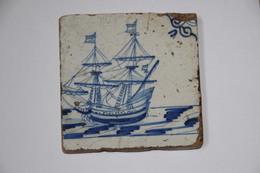 Carreau  Delft Decor Caravelle 17/18 Eme Siecle - Delft (NLD)