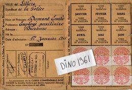 VP6622 - Carte Confédérale De La C.G.T - Syndicat De Police - Ville De LILLERS - Sin Clasificación