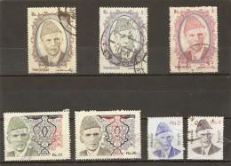 Pakistan 1989/98 - Mohammad Ali Jinnah - Petit Lot De 7 Timbres Oblitérés Tous états - Pakistan