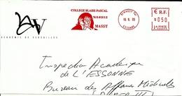 Lettre Enveloppe Ema College Blaise Pascal  Themes Ecrivains 91 Massy   B /932