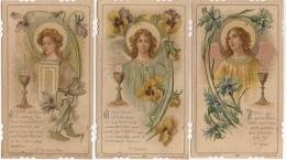 Image Pieuse, Religieuse. St Augustin, Ignace, François De Sales. Communion 1906 Saint Etienne. Lot 3. Saudinos Ritouret - Devotion Images