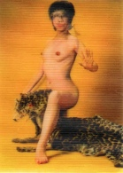 Femme Asiatique Nue (2 Poses Suivant Inclinaison De La Carte) - Fine Nudes (adults < 1960)
