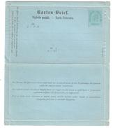ÖSTERREICH / Autriche / Austria, Ganzsache / Carte Lettre Entier KARTEN BRIEF  2 Kreuzer Grün / Vert,  Neuve TB - Ganzsachen