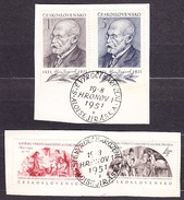 CZECHOSLOVAKIA 1951, Complete Set, First Day Cancel. Michel 684-687. WRITER A. JIRASEK. Condition, See The Scans.