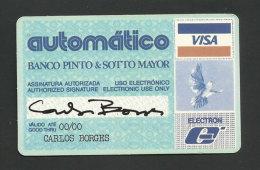 Portugal Calendrier De Poche 1986 Publicité Reprodution Carte Bancaire Visa Publicity Small Calendar - Cartes De Crédit (expiration Min. 10 Ans)