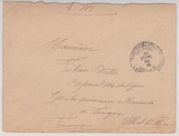 LSC : POSTES MILITAIRES / BELGIQUE Pour GARDIEN PRISONNIERS ALLEMANDS A FOUGERES / 1916 - Marcophilie (Lettres)