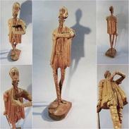 *DON QUICHOTTE OURO EN BOIS SCULPTE # Cervantes Livre Roman Literature Souvenir Espagne Sculpture - Bois