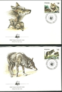 4 Enveloppes WWF Avec Timbres Wwf  Loup - Timbres