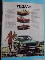 VEGA ´75 - GM CHEVROLET Makes Sense For America - 12 Pages September 1974 ( Zie Foto´s Voor Detail ) ! - Voitures
