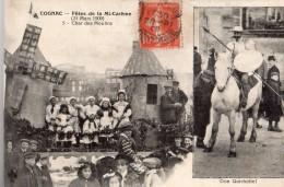 COGNAC FETES DE LA MI-CAREME (21 MARS 1909) CHAR DES MOULINS - Cognac