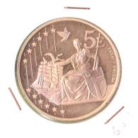 ESSAI NON OFFICIEL DE CINQ EUROS /2002 / FDC - Jetons & Médailles