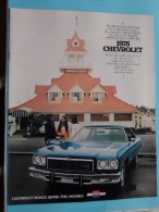 1975 CHEVROLET - Chevrolet Makes Sense For America - 20 Pages January 1975 ( Zie Foto´s Voor Detail ) ! - Voitures