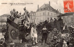 COGNAC FETES DE LA MI-CAREME (21 MARS 1909) CHAR DU BARNUM POPAUL - Cognac