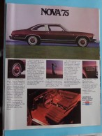 NOVA '75 - Chevrolet Makes Sense For America - 16 Pages September 1974 ( Zie Foto´s Voor Detail ) ! - Cars